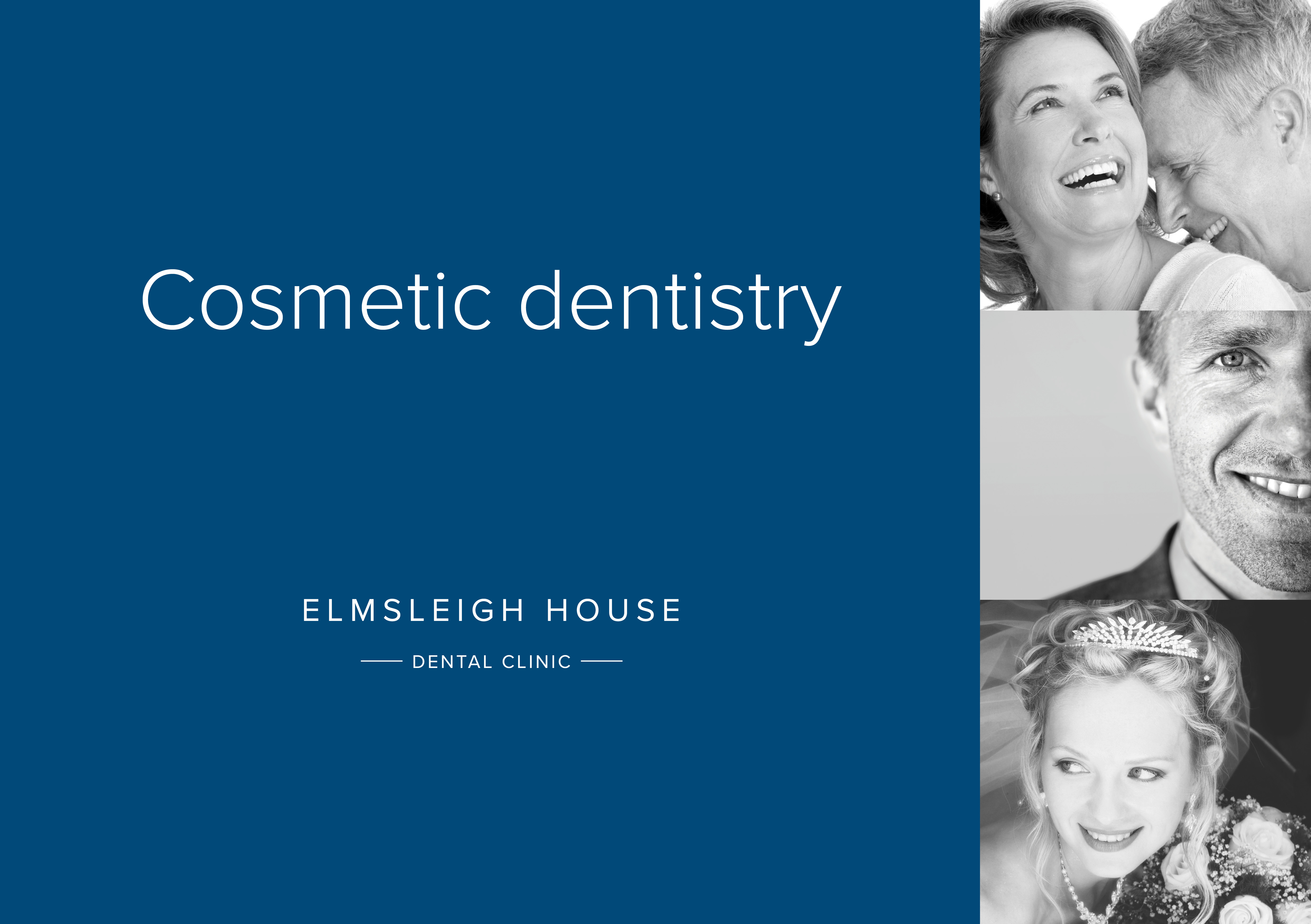 Cosmetic dentistry brochure front page