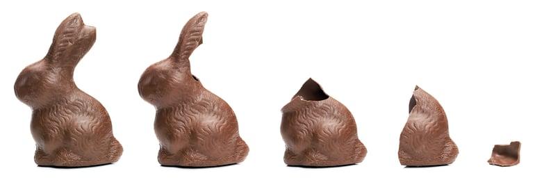 Easter bunnies being eaten!