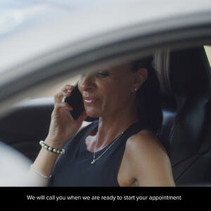 Patients call and wait in the car before their appointment